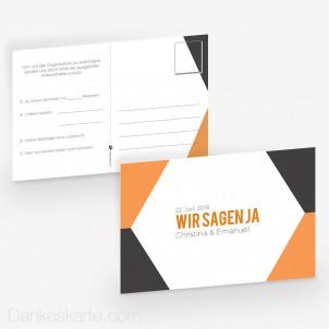 Antwortpostkarte Modern Shape 15 x 10 cm