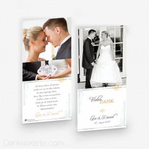 Dankeskarte Elegance 10 x 21 cm