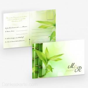 Antwortpostkarte Bambus 15 x 10 cm
