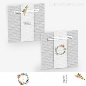 Transparente Banderole Blütenzauber (5 x 30 cm)