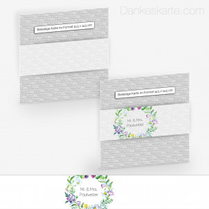 Transparente Banderole Blumendekor (5 x 30 cm)