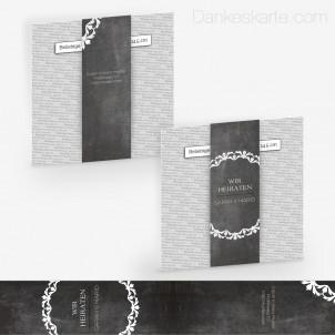 Transparente Banderole Chalkboard (5 x 30 cm)
