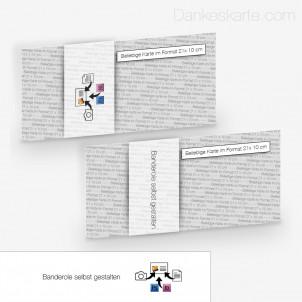 Transparente Banderole Eigenes Design (5 x 21 cm)