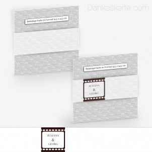 Transparente Banderole Theater Ticket (5 x 30 cm)