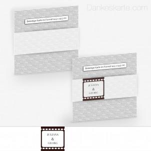 Transparente Banderole Theater Ticket (5 x 30 cm)