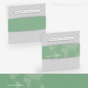 Transparente Banderole Travel (5 x 30 cm)