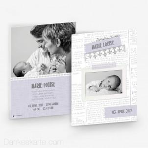 Geburtskarte Baby News 15 x 21cm