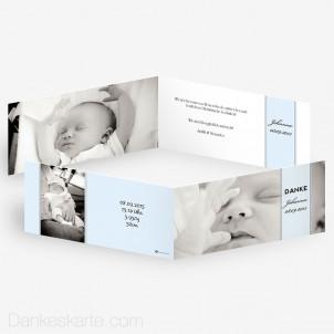 Geburtskarte Banderole 21 x 10 cm