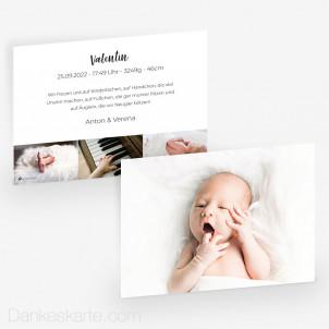 Geburtskarte Bilderreich 21 x 15 cm