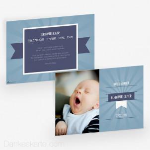 Geburtskarte Blaues Wunder 21 x 15 cm