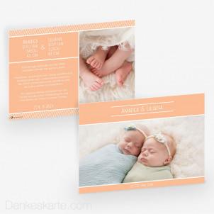 Geburtskarte Bunte Welt 21 x 15 cm