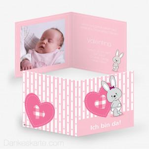 Geburtskarte Hase 14.5 x 14.5 cm