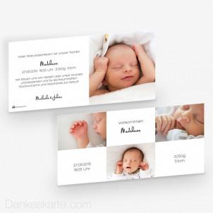 Geburtskarte Helle Freude 21 x 10 cm