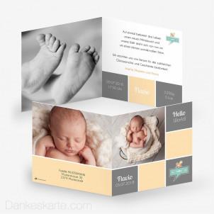Geburtskarte Hello Pacifier 14.5 x 14.5 cm