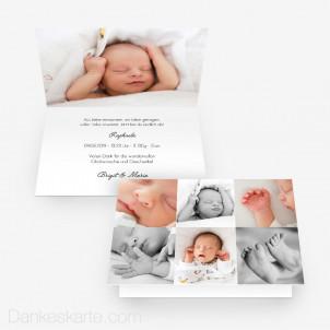 Geburtskarte In Szene gesetzt 15 x 10 cm Vertikalklappkarte