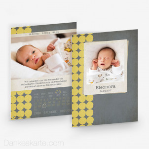 Geburtskarte Kalender 15 x 21cm