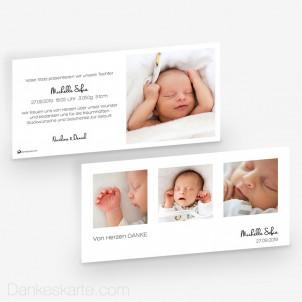 Geburtskarte Klares Design 21 x 10 cm