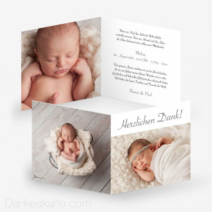 Geburtskarte Lolith 14.5 x 14.5 cm