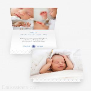 Geburtskarte Maritimes Babyglück 15 x 10 cm Vertikalklappkarte