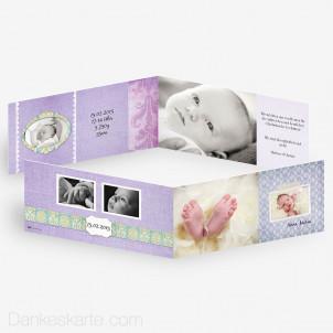 Babykarte Ornament 2 21 x 10 cm