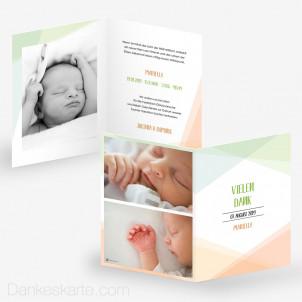 Geburtskarte Pastellgeometrie 15 x 21 cm
