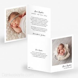 Geburtskarte Polaroid Stil 10 x 15 cm