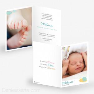 Geburtskarte Rasselbande 10 x 15 cm