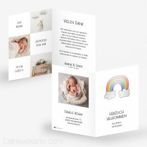 Geburtskarte Regenbogen 10 x 15 cm