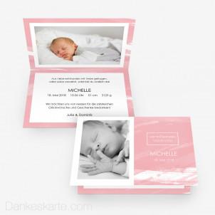 Geburtskarte Romantisch 15 x 10 cm Vertikalklappkarte