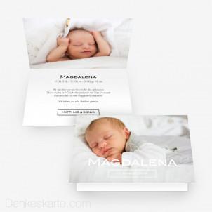 Geburtskarte Schlicht Schön 15 x 10 cm Vertikalklappkarte