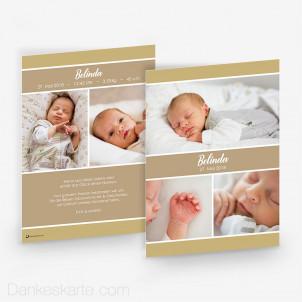 Geburtskarte Schnörkellos 15 x 21cm