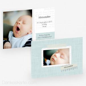 Geburtskarte Postcard 21 x 15 cm