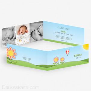 Geburtskarte Sonnenblumen 21 x 10 cm