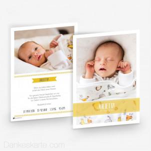 Geburtskarte Sonnige Akzente 15 x 21cm