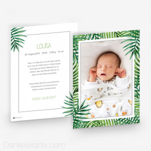 Geburtskarte Tropical 15 x 21 cm