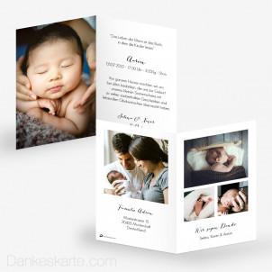 Geburtskarte Understatement 10 x 15 cm