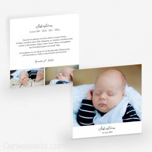 Babykarte Understatement 14.5 x 14.5 cm