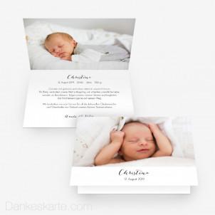 Geburtskarte Understatement 15 x 10 cm Vertikalklappkarte