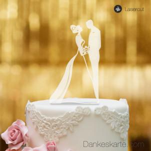 Cake Topper Brautpaar - Satiniert - XL