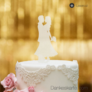 Cake Topper Almost Kiss - Satiniert - XL