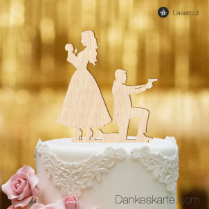 Cake Topper Baby James - Buchenholz - XL