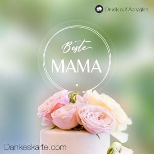Transparenter Cake Topper Beste Mama