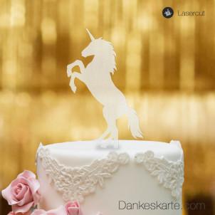 Cake Topper Einhorn - Satiniert