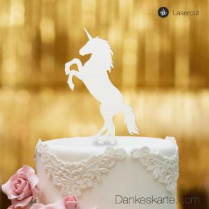 Cake Topper Einhorn - Weiss