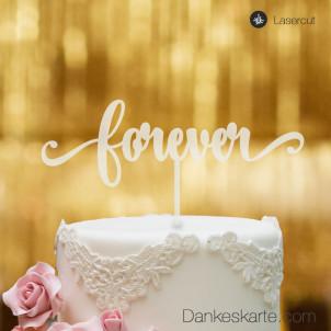 Cake Topper Forever - Satiniert - XL