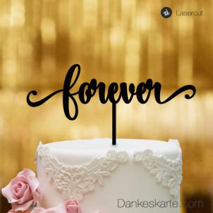 Cake Topper Forever - Schwarz - XL