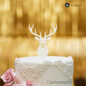 Cake Topper Hirsch - Satiniert
