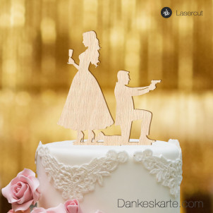 Cake Topper James - Buchenholz - XL