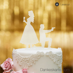 Cake Topper James - Satiniert - XL