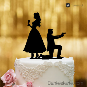 Cake Topper James - Schwarz - XL